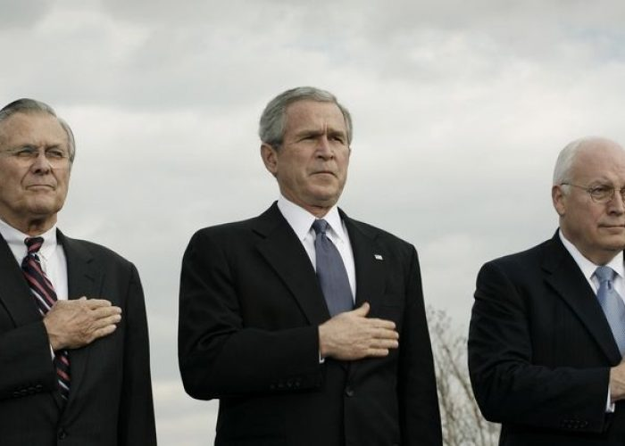 War Criminals George W Bush and Dick Cheney