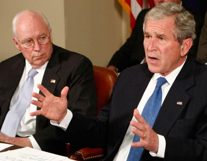 Bush and Cheney Partner in Crime
